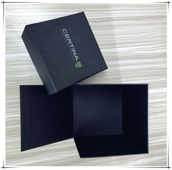 Black Color Foldable Square Carboard Box with Lip